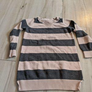BABY GAP Striped Knit Pullover Sweater Gray & Brow